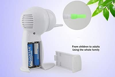 Cordless Easy Painless Electric Ear Wax Cleaner Remover Ear Pick Vacuum Cleaner