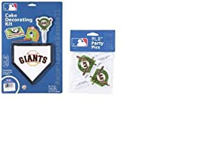 MLB San Francisco Giants Layon Cake/Cupcake Decorations