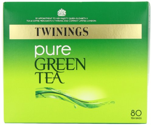 Twinings Pure Green Tea Bags 200 g 80 Tea Bags ( packs of 4 total 320 teabags)