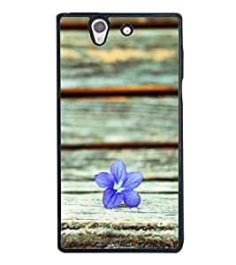 A flower 2D Hard Polycarbonate Designer Back Case Cover for Sony Xperia Z :: Sony Xperia C6603 :: Sony Xperia C6602 :: Sony Xperia Z LTE, Sony Xperia Z HSPA+