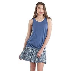 SbuyS - Blue Drop Waist Knit & Chambray Dress