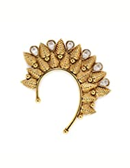 Leaf Gold Ear Cuffs - B00WYWLO0W