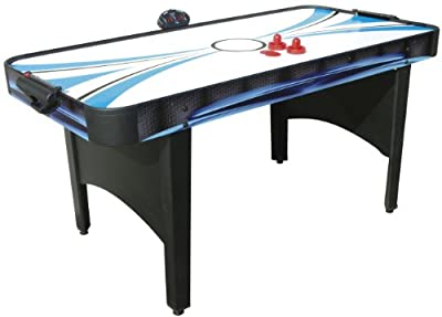 Mightymast Typhoon 2 in 1 Air Hockey and Table Tennis Table - Black, 5.5 Feet by Mightymast