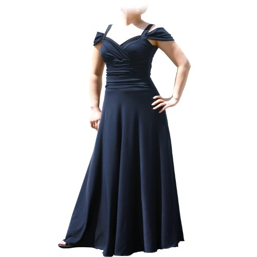 Evanese Women'S Plus Size Elegant Long Dress (3X. Navy)