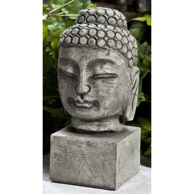 Serene Buddha Bust Statue Color: Alpine Stone, Size: Medium