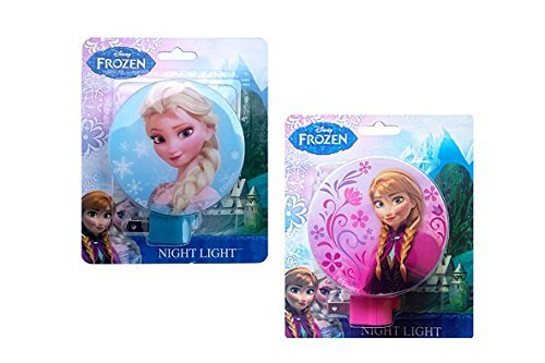 Disney Frozen Princess Elsa and Anna Night Lights (Pack of Two) - 1