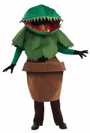 Unisex - Adult Venus Flytrap Costume, Green, One Size