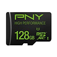 PNY High Performance 128GB High Speed MicroSDXC Class 10 UHS-I, U1 up to 60MB/sec Flash Memory Card (P-SDUX128U160G-GE)