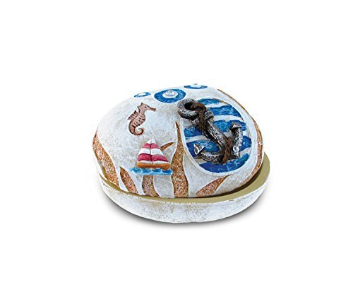 Puzzled Nautical Stone Trinket Box, Anchor