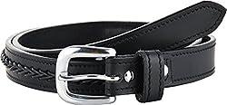 STERLING GERMANY Women's Belt (B523-BRAIDED, Black, 30)