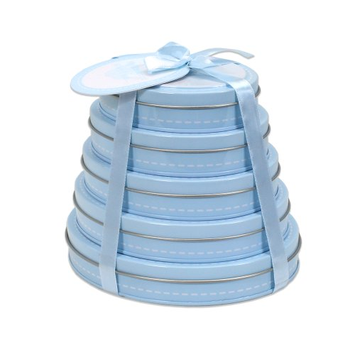 Child to Cherish Handprint Tower of Time Oval, Blue - 1