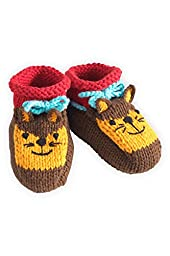 Joobles Fair Trade Organic Baby Booties - Silly the Fox (0-6 Months)