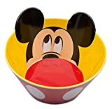 Disney Mickey Mouse Bowl,red Pants,yellow Inside with Mickey Mouse Head
