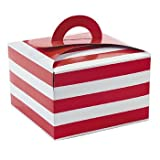 Dozen Red & White Striped Cupcake Boxes