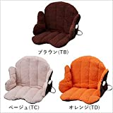 あったか腰周りクッション SB-KC40 オフィスや座椅子でも使える ぬくぬく (ブラウン(TB))