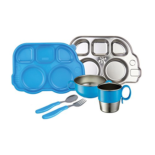 Innobaby Din Smart Stainless Mealtime Set, Blue
