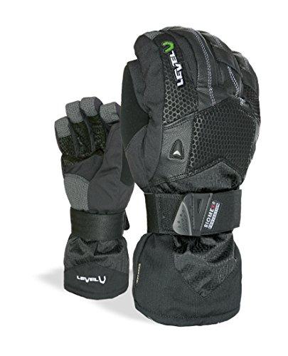 Level Super Pipe XCR Protective Snowboard Gloves (Black, Medium (8.0in)) (Super Pipe Xcr compare prices)