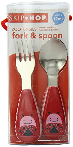 Skip Hop ZOOtensils Fork and Spoon, Ladybug