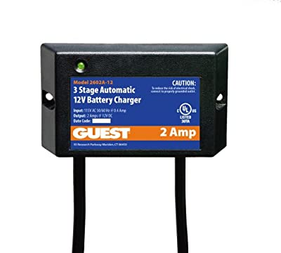 Guest 2602A-12 Marine Battery Maintainer/Charger (12-Volt, 2-Amps, Single Output)