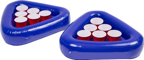 Buy Bargain Red Cup Pong Inflatable Pong Rafts for Pool Pong Beiruit - Set of Two Floating Racks