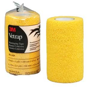 "3M Vetrap Bandage Tape, 4"" X 5 Yard Roll, Gold"