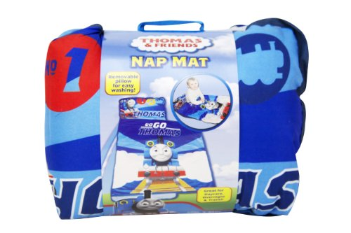 "New Hit Entertainment Thomas Toddler ""Toddler and His Team"" Quilted Nap Mat, 46 by 20-Inch"