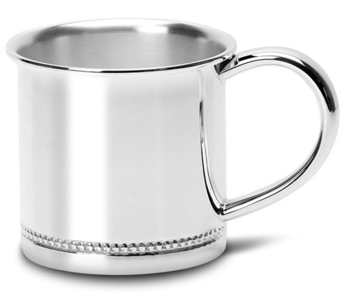 Krysaliis Silver Plated Baby Cup, Beaded