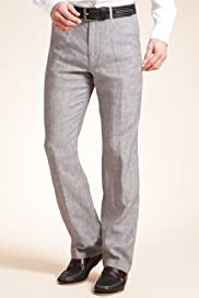 Blue Harbour Pure Linen Active Waistband Straight Leg Chinos [T17-2304B-S]