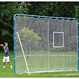 EZGoal 6-in-1 Multi-Sport Folding Tilting Backstop Goal, Blue by EZGoal