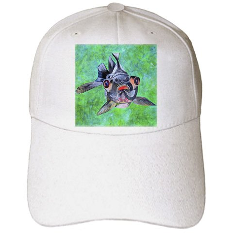 Black Moor Goldfish - Black Moor Goldfish, Telescope Goldfish, Goldfish, Dragon Eye Goldfish - Adult Baseball Cap