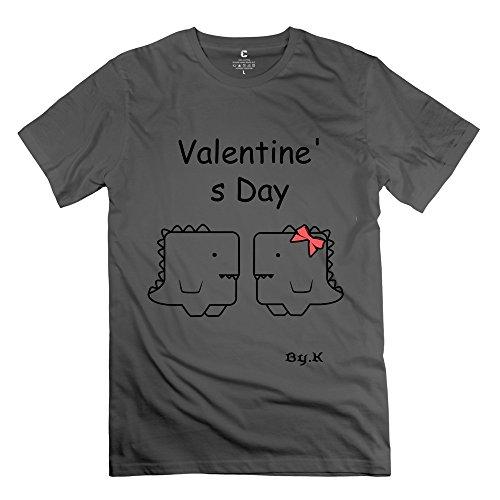 Tgrj Men'S Tee - Vintage Valentines Day Awkward Dinosaur T-Shirt Deepheather Size Xs