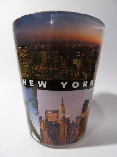 New York City Postcard 817 Shot Glass