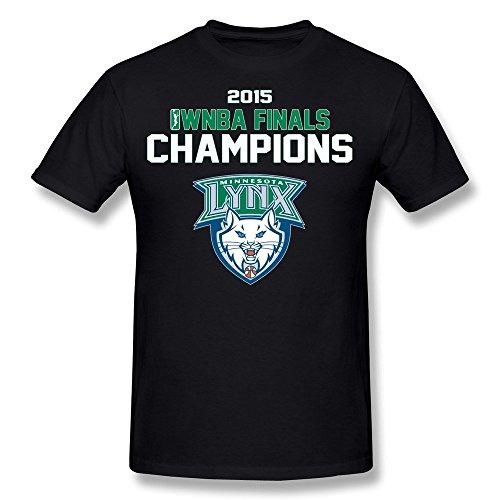 LOOIN Men's Minnesota Lynx 2015 WNBA Finals Champions T-Shirt XS (Lil Lynx compare prices)