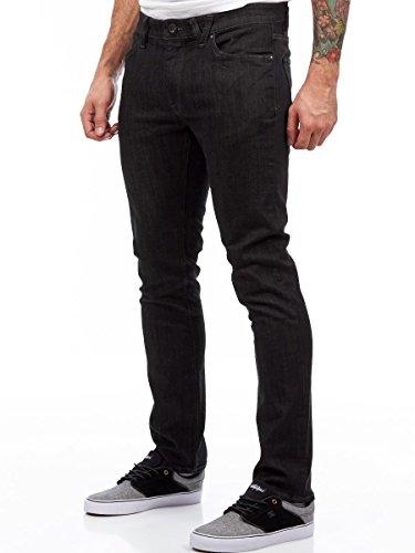 Jeans Volcom Vorta Slim Straight Fit Nero Rinser (38 Vita X 34 = Eu 52 , Nero)
