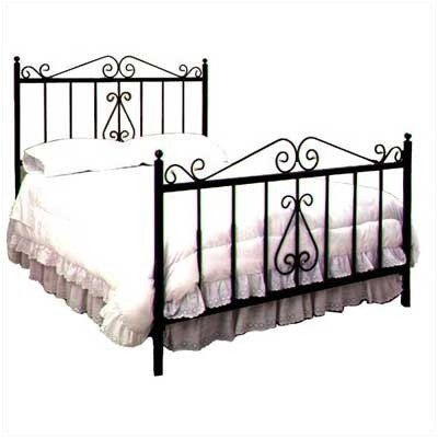 French Bed with Frame Metal Finish: Aged Iron, Size: Queen