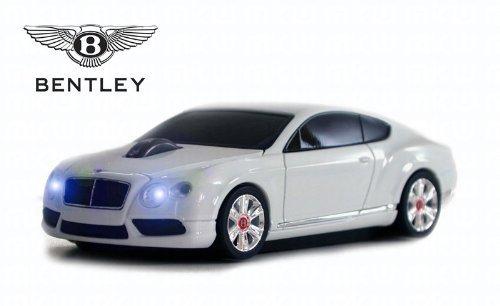 Bentley Continental GT V8 Wireless Auto-Mouse (Bianco) Senza fili ottico