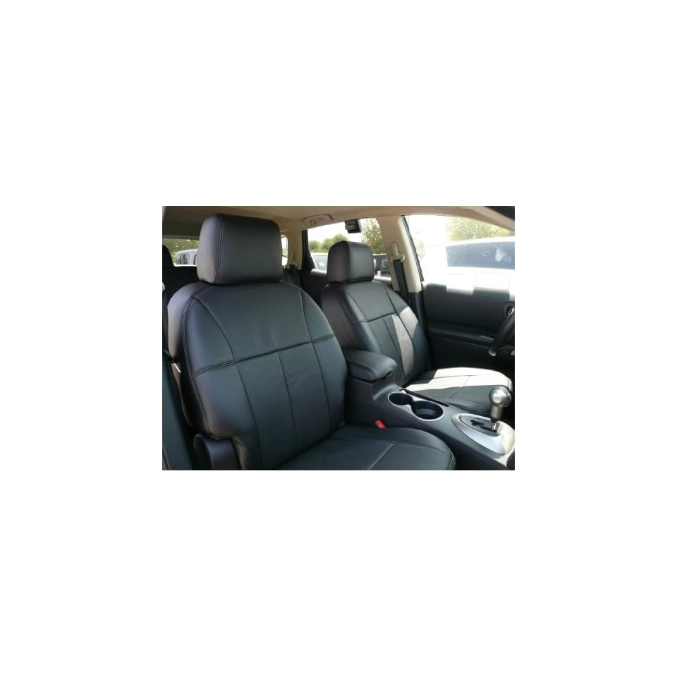 2008 Nissan Versa SL Clazzio Leather Seat Covers   Beige   Full Set   Front and Rear Row