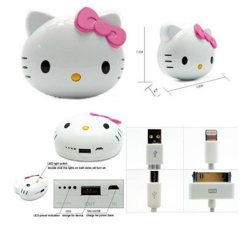 3d Hello Kitty Iphone Samsung Cell Phone Tablet Charger