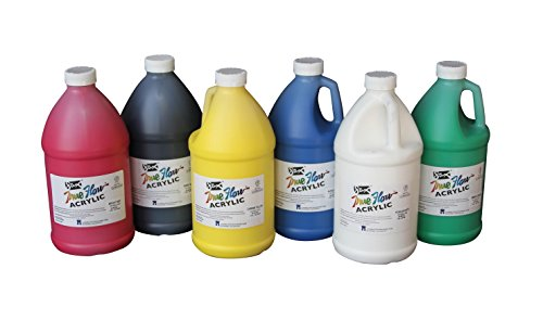 sax-true-flow-medium-bodied-acrylic-paint-1-2-gallon-set-of-6-assorted-colors