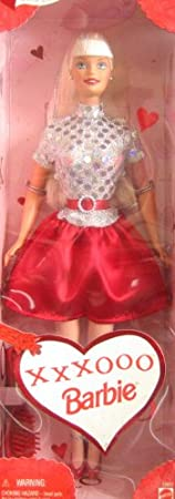 Mattel Barbie 1999 Valentine Special Edition 12 Inch Doll - XXXOOO Barbie Doll with Glamour Dress, Shoes and Hairbrush