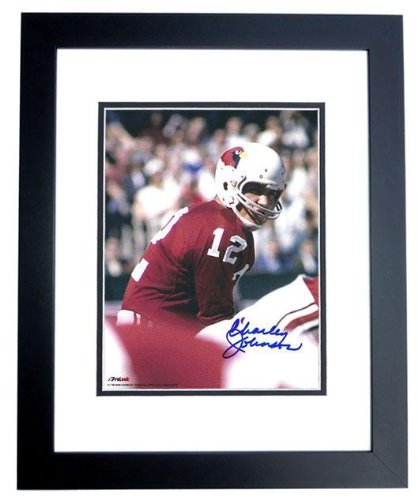 Signed Charley Johnson Picture - St Louis Cardinals 8x10 BLACK CUSTOM FRAME - Autographed NFL Photos at Amazon.com