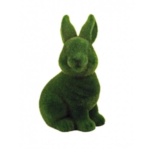 Streamline Grass Flocked Coin Bank - Rabbit - 1