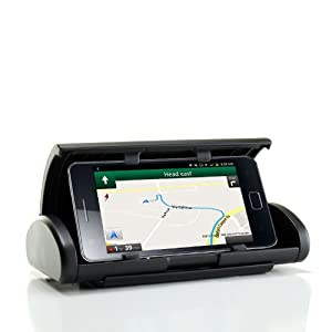 USA Gear dashMOUNT LP Universal Dashboard Cradle Mount Holder for GPS Navigation - Works for Select iPhone / iPod Touch / Lumia / Motorola / LG / HTC / Samsung / Blackberry & More Smartphones!