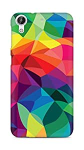 AMEZ designer printed 3d premium high quality back case cover for HTC Desire 626 LTE (multi colour pattern)