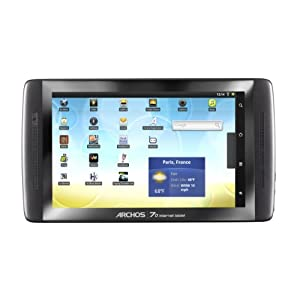 ARCHOS 7.0 Internet Tablet 8 GB 17,8 cm (7 Zoll) ( Kapazitiv-Multitouch Display, Android, WiFi, 360° Lagesensor) schwarz