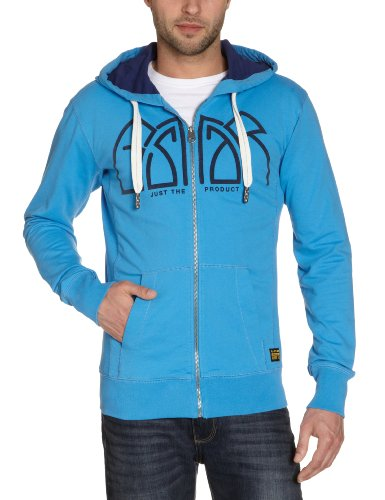 G-Star Men's Havoc Hooded Vest Sw L/S - 85002 Sweatshirt Blue (Regatta Blue 1270) 56