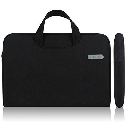Kamor 16 17 17.3 inch Canvas Fabric Laptop Sleeve Case Cover Bag Shell with pocket & handle - Superior Protection Notebook Computer Case / Briefcase Carrying Bag / Ultrabook Laptop Tablet Bag Case