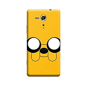 Sony Xperia M4 Yellow Para Premium Designer Polycarbonate Hard Back Case Cover with full Protection