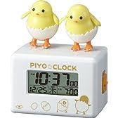 リズム時計 歌って踊ってお話しをするピヨ。アクション目覚まし時計 ピヨクロック 8RDA61RH03