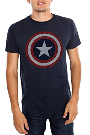 marvel universe captain america shield t shirt clothing. Black Bedroom Furniture Sets. Home Design Ideas